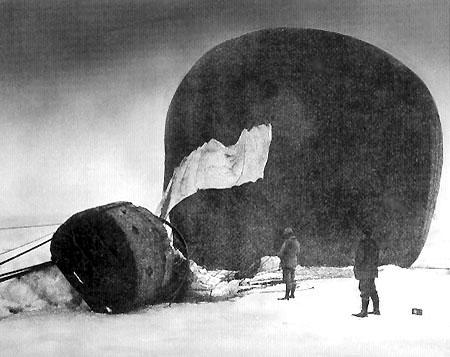 The ørnen, crash landed not three days after take-off