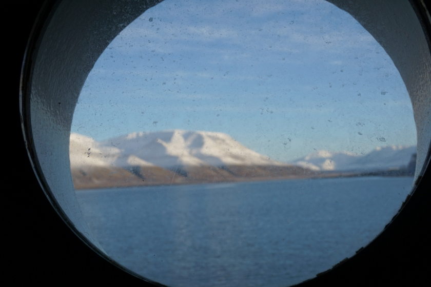 The view from my bunk's porthole